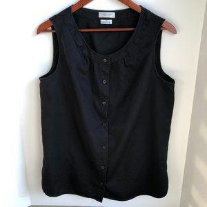 Van Heusen Cotton Button Down Shirt Black Size M